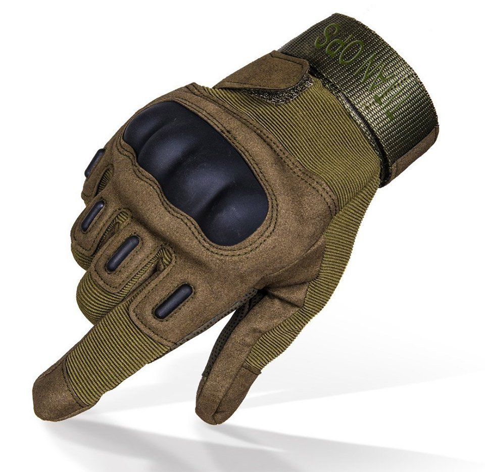 Outdoor Military Tactical Fingerless Motorcycle Hard Knuckle Half Finger Gloves