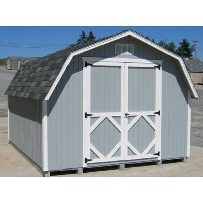 Little Cottage 16 X 12 Ft Classic Wood Gambrel Barn Panelized Storage Shed 12x16 Cwgb Wpnk Lit123 1 Gambrel Barn Shed Gambrel