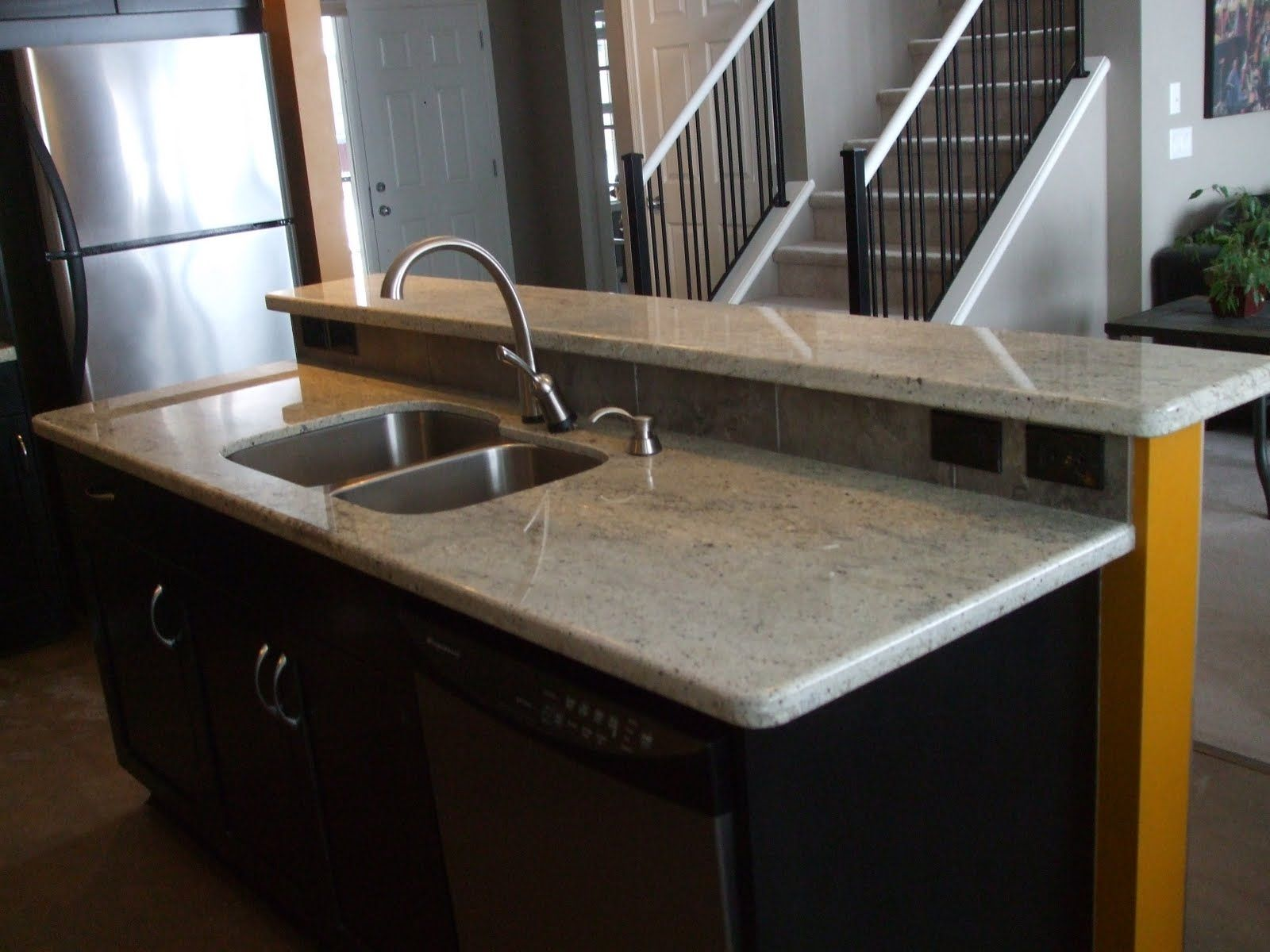 White Granite Kitchen Sink Illustration Of Kashmir White Granite Countertops Showcasing
