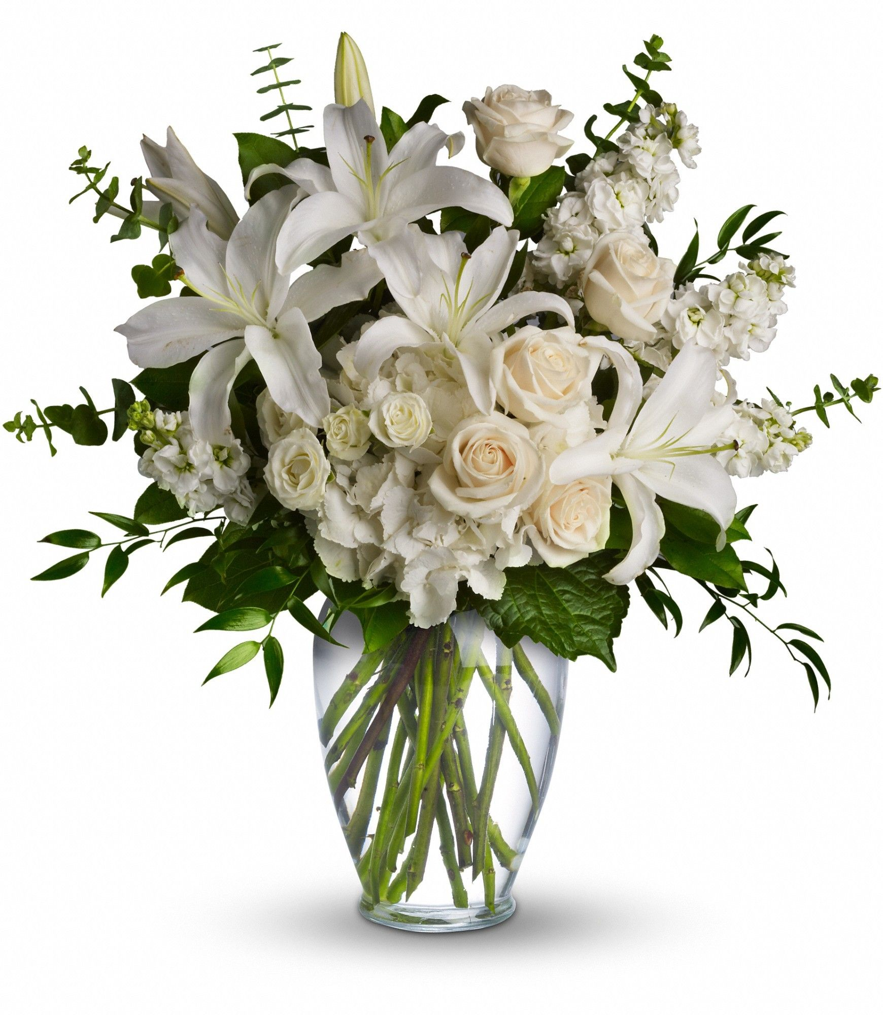 A dreamy bouquet of white sympathy flowers is a comforting reminder a dreamy bouquet of white sympathy flowers is a comforting reminder of your love the izmirmasajfo