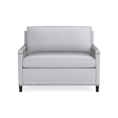 Addison Leather Sleeper Sofa With Nailheads 48 Quot With Images