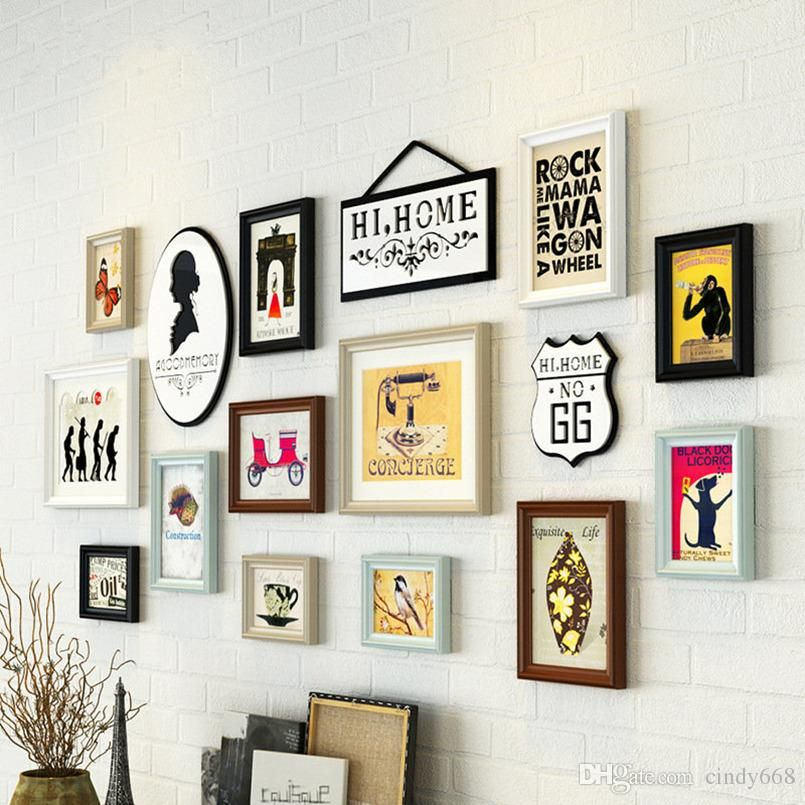 2018 Simple Living Room Decorative Painting Hallway Entrance Wall Hanging Picture Frame Combi Hanging Picture Frames Wedding Picture Frames Wooden Photo Frames