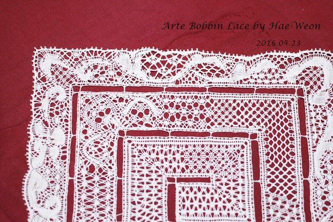 Binche lace sampler