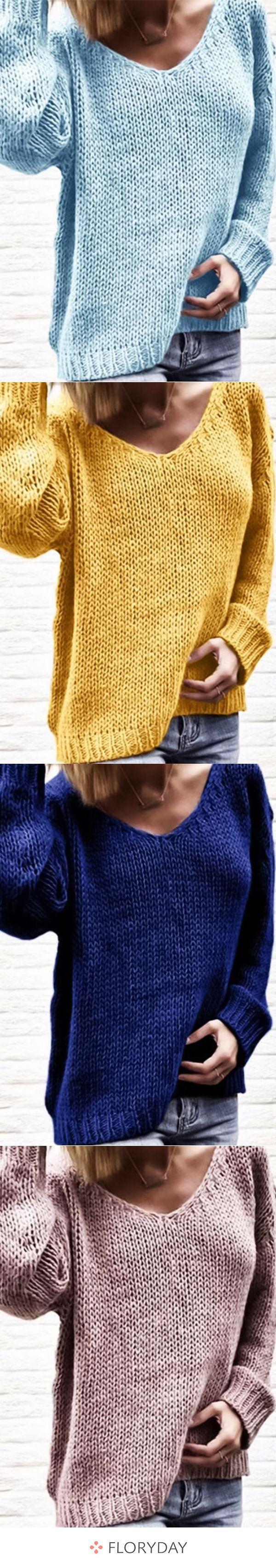 Photo of Lockerer Longshift-Pullover mit V-Ausschnitt,  #Lockerer #LongshiftPullover #mit #StrickenAnl…