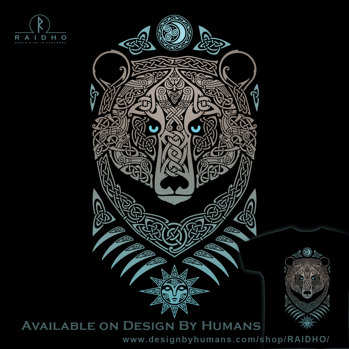 FOREST LORD Bear-T-shirt by RAIDHO ..He guards the sleeping sun