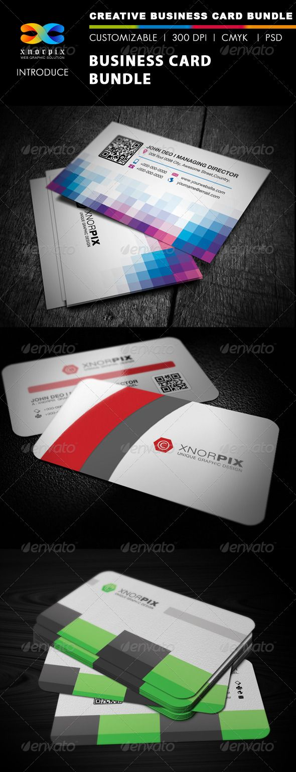 Business card bundle 3 in 1 vol 17 adobe photoshop creative and business card bundle 3 in 17 reheart Gallery