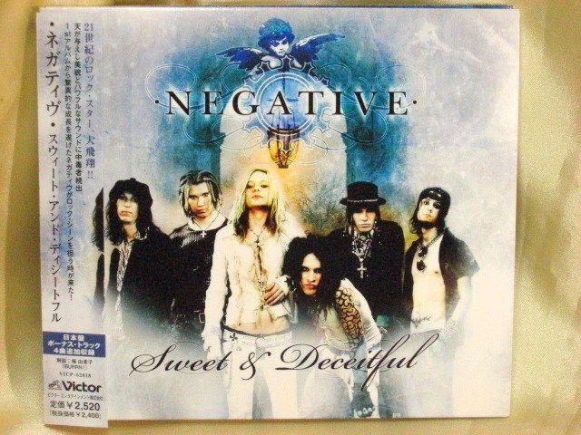 CD/Japan- NEGATIVE Sweet & Deceitful +4 bonus trx w/OBI RARE DIGIPAK VICP-62818 #GlamMetalHardRocknRoll