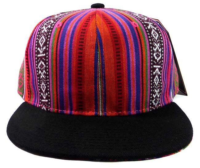 25fd3e659b3 Wholesale Blank Aztec Snapback Hats - Multicolored Pattern Purple - Black  Brim