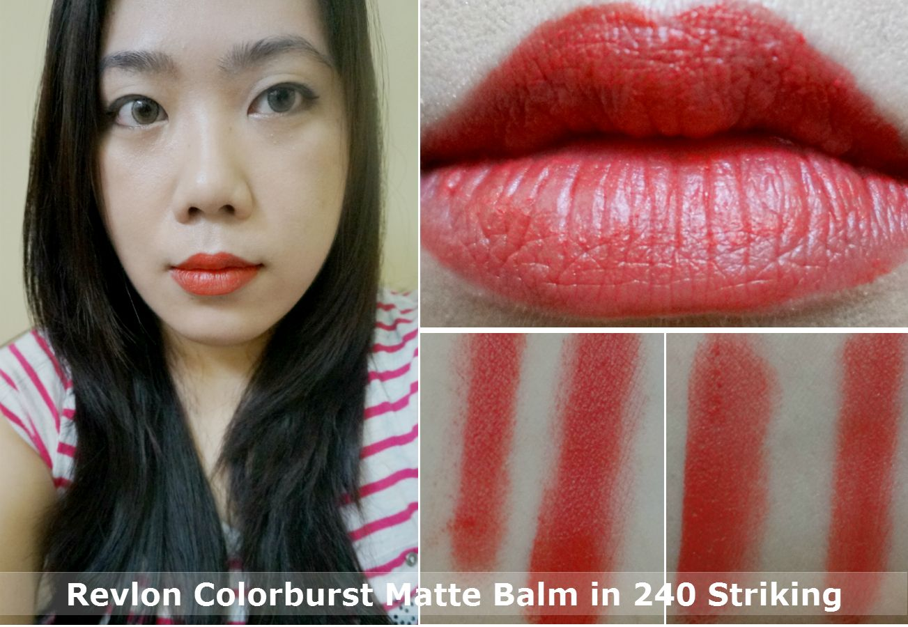 Revlon Colorburst Matte Balm In 240 Striking Review Swatches Collorbust
