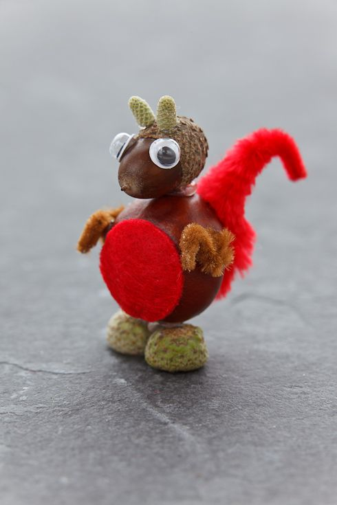 Horse chestnut craft squirrel prace z szyszek kasztan w i o edzi pinterest craft and - Acorn and chestnut crafts ...