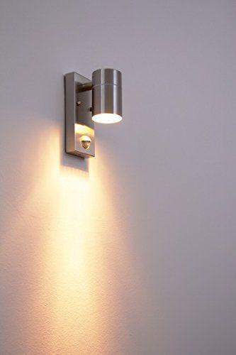 Outdoor Wall Light Down Segur With Pir Sensor Amazon Co Uk