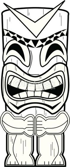 Tiki totem pole coloring pages