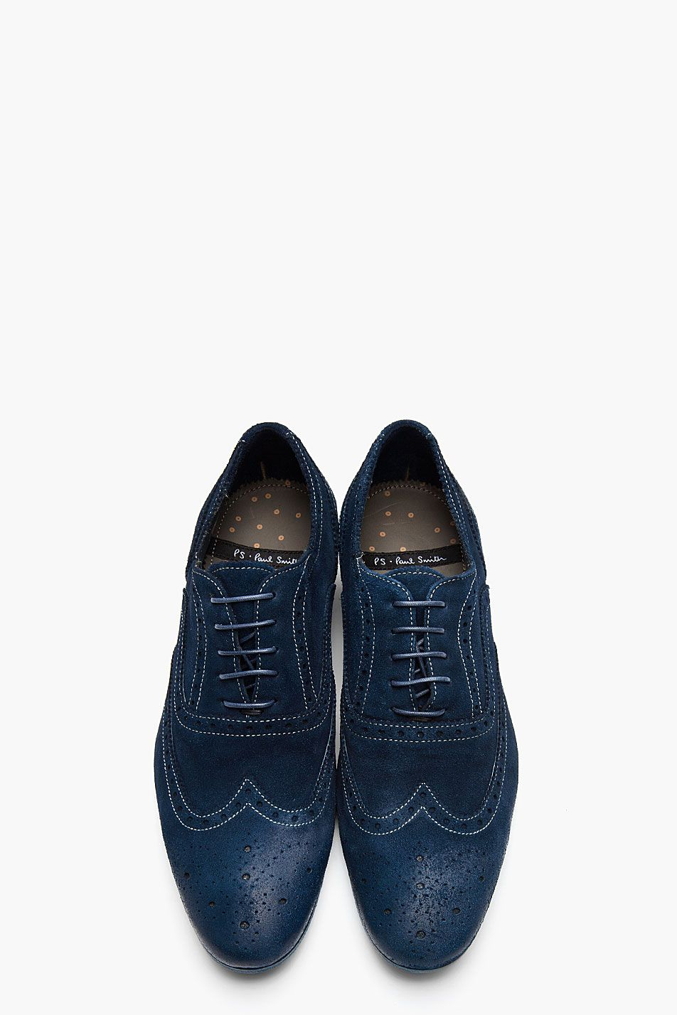 pretty nice a835c d82e6 PS PAUL SMITH Navy Dip Dyed Suede Distressed Wingtip Miller ...
