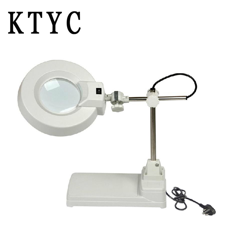 Tabletop Magnifying Glass with Bright