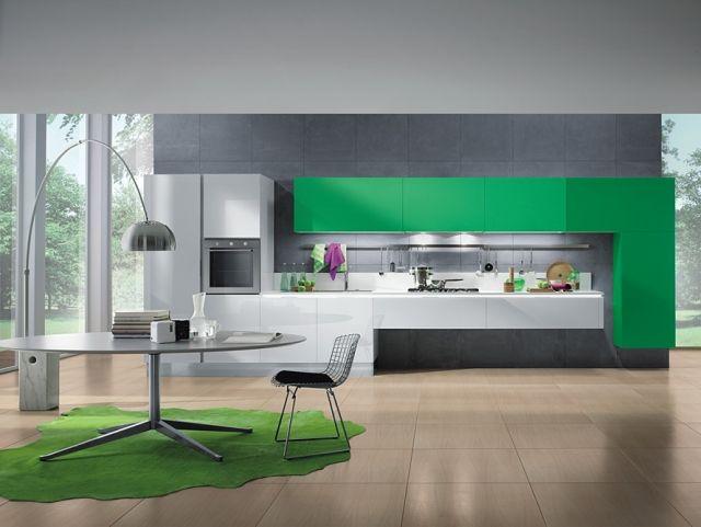 mya grüne-küche wand schrank-design Moderne küchen designlösungen ... | {Küchengestaltung wand 30}