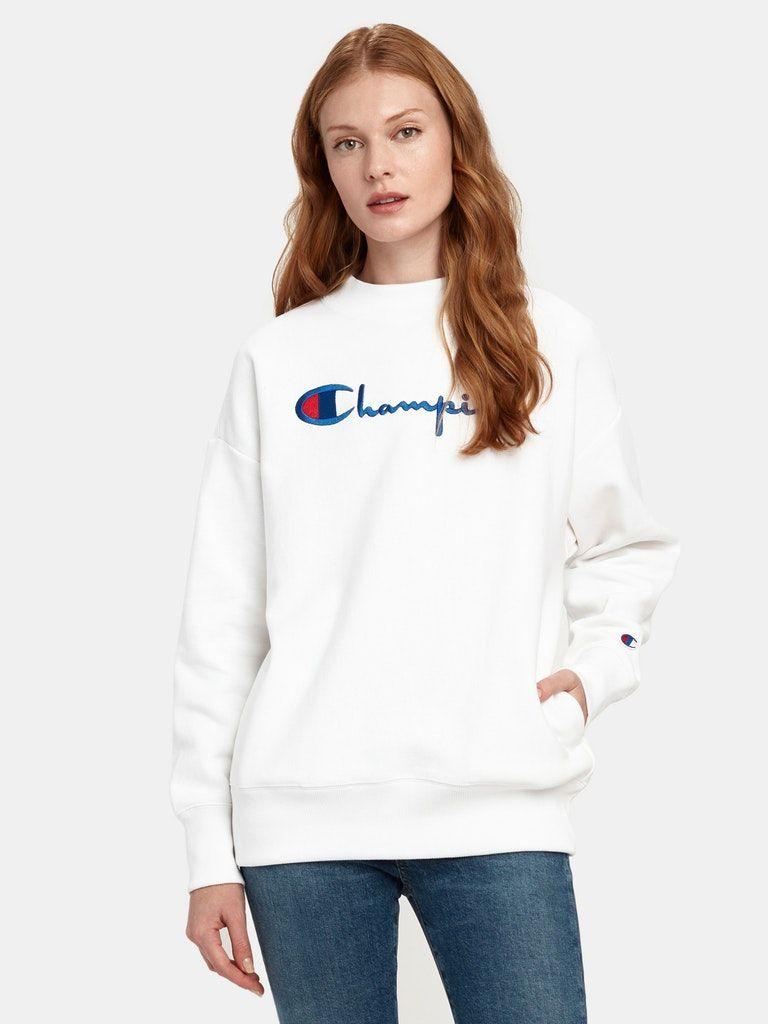 Champion Reverse Weave Big Script Oversized Crewneck Sweatshirt In 2021 Oversized Crewneck Champion Reverse Weave Sweatshirts [ 1024 x 768 Pixel ]