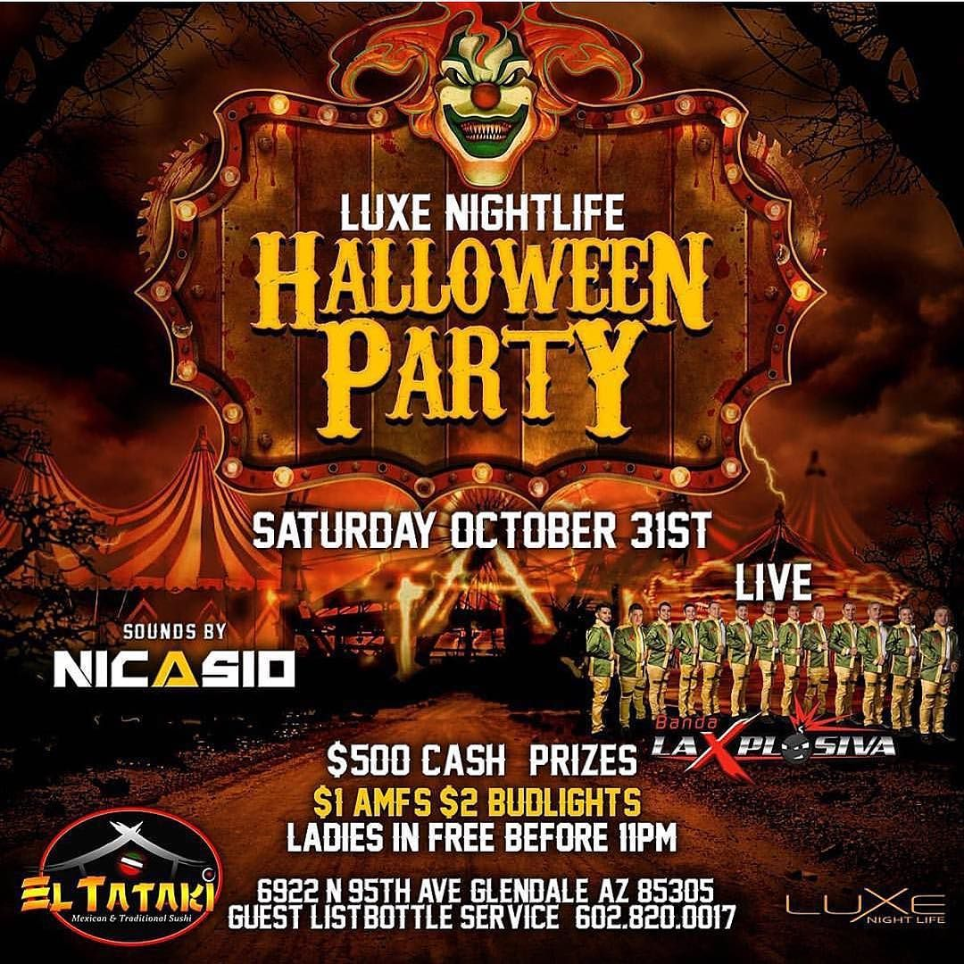 Saturday Oct. 31st HALLOWEEN PARTY with @dj_nicasio ...