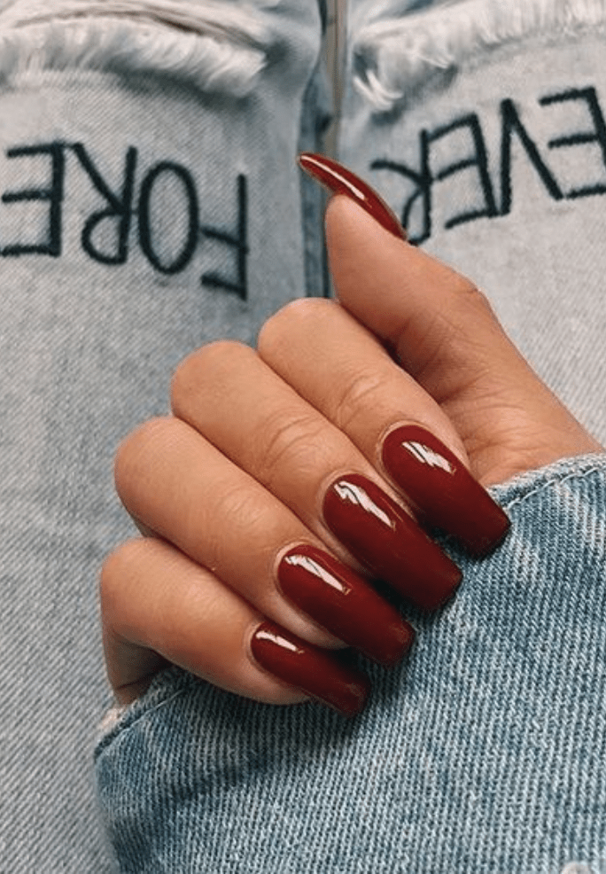 The Do S And Don Ts Of Dark Red Acrylic Nails Short Square Bloggerathome Com Red Acrylic Nails Fake Acrylic Nails Square Acrylic Nails