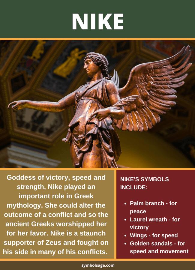 Nike Symbolism And Symbols In 2021 Nike Goddess Of Victory Mythology Greek Goddess