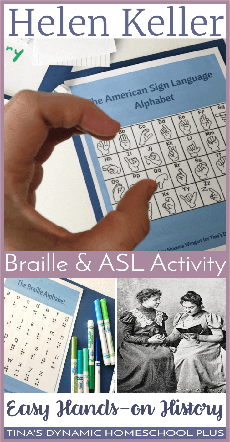 Hands-On History: Helen Keller Braille and ASL Activity.  Braille