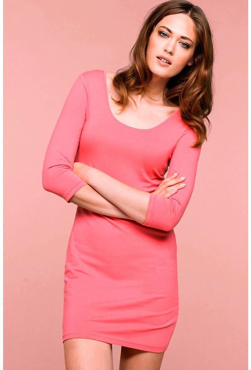 Vestido corto - 93% algodón, 7% lycra - ELLOS | Women - fashion ...