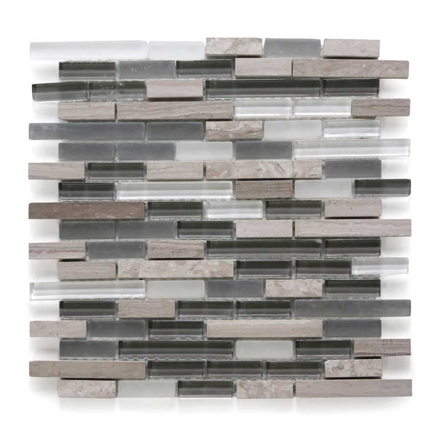 Backsplash: Shop Solistone 10-Pack Opera Aria Light Mixed Material ...