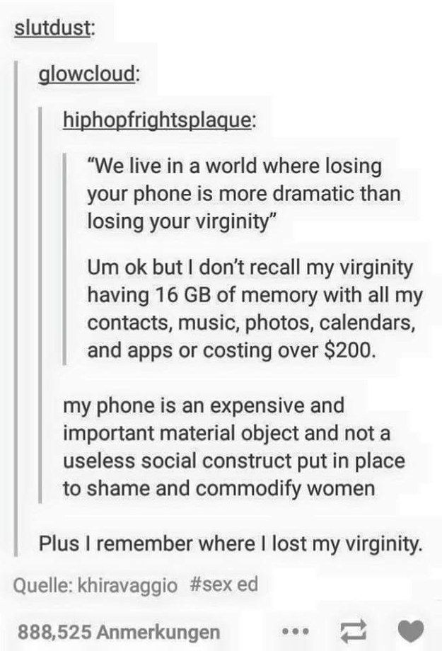 Funny virginity stories