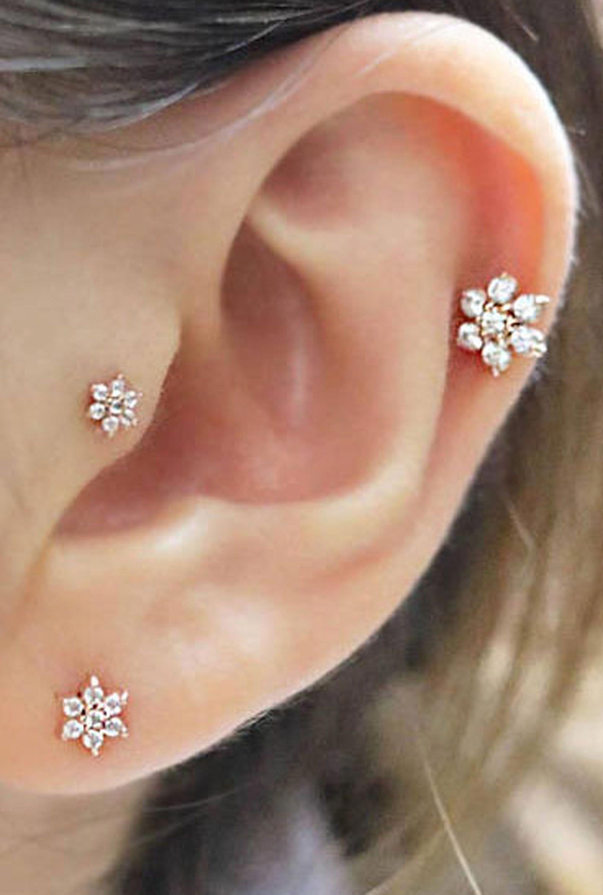 Hoop Earrings Textured Oval 3D Hook Earrings
