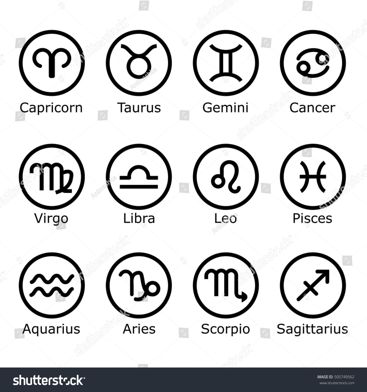 Zodiac signs and symbols astrology horoscope sign graphic zodiac signs and symbols astrology horoscope sign graphic design elements biocorpaavc Gallery