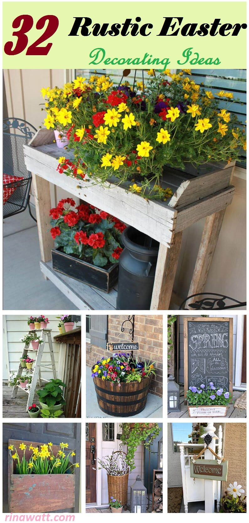 Nested Baskets With Flowers And Decorative Eggs Source Confessionsofaplateaddict Blo 2 Burlap Lined Wood Box Centerpiece Nests