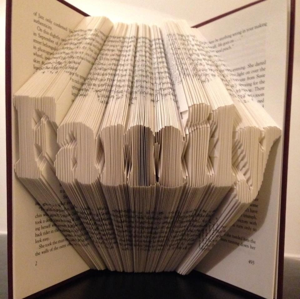 how to make a book folding pattern in word