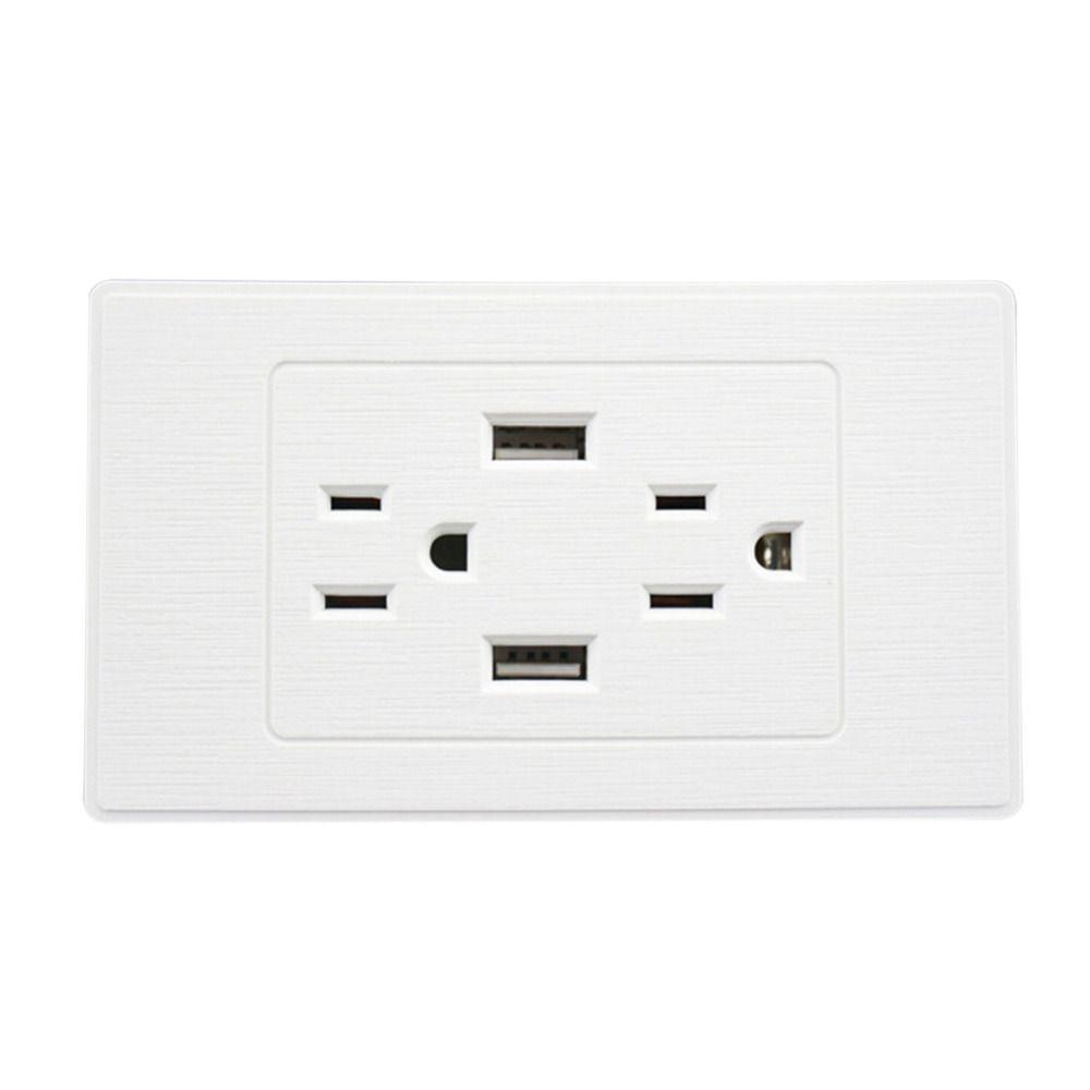 US Plug Double USB Port Dual USB Power Socket USB Wall Socket Wall ...