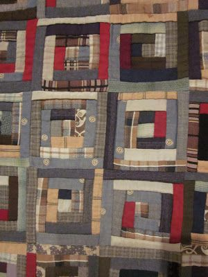 Detail Of The Civil War Era Log Cabin Quilt From Deb
