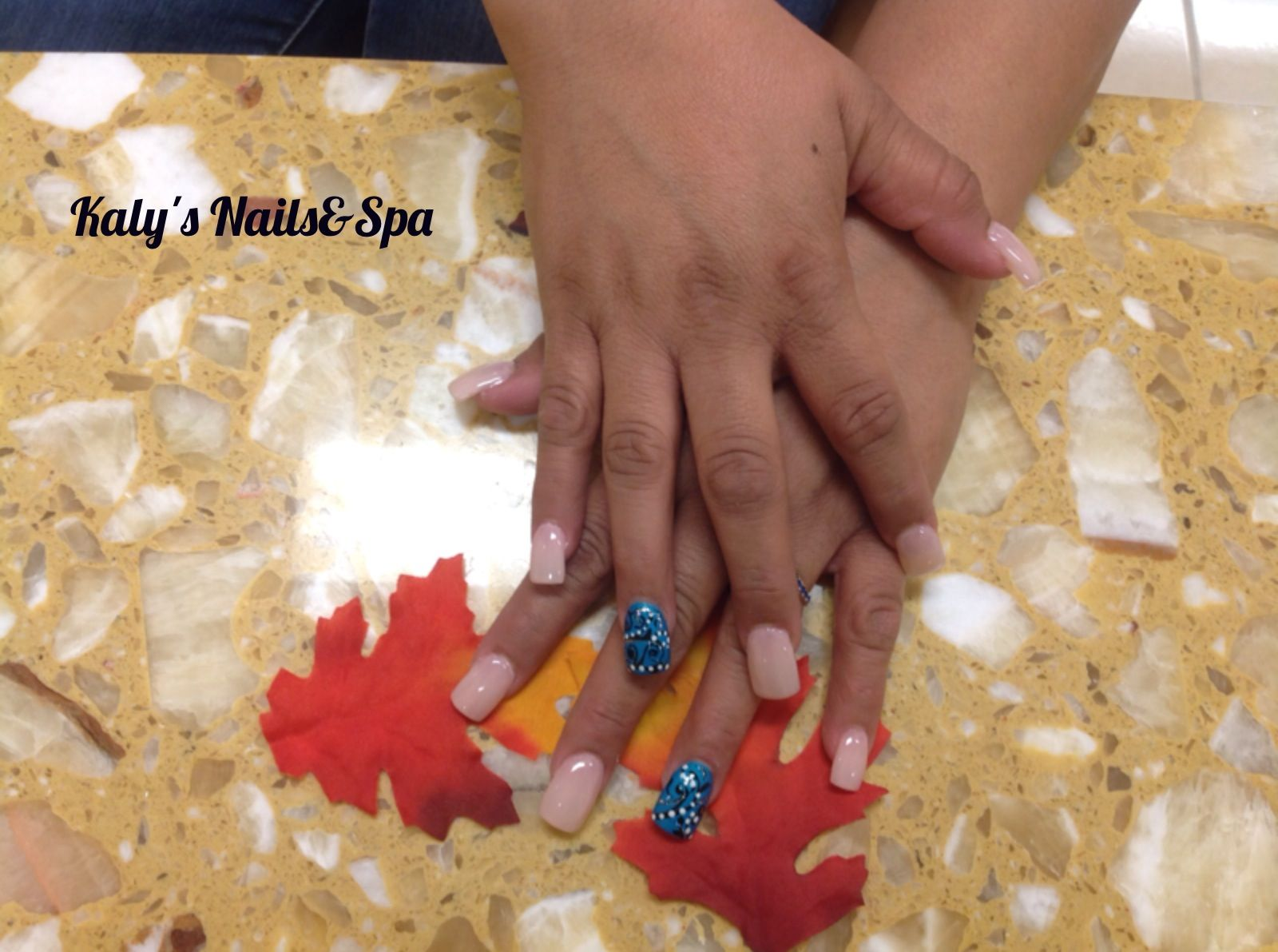 Turquoise nails designs | Nails art by Kaly\'s Nails & Spa ...