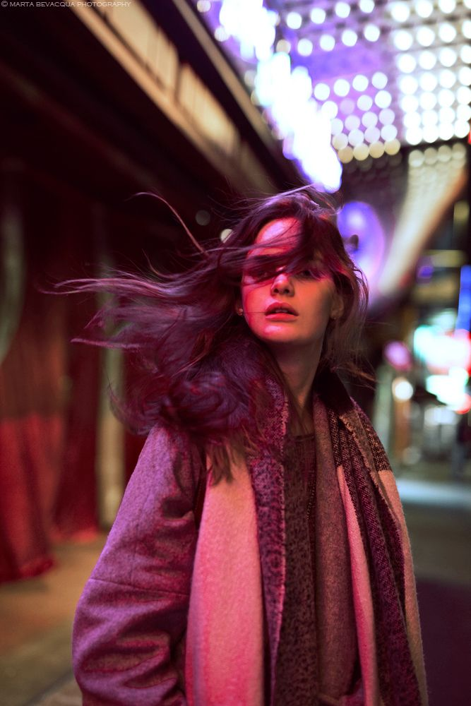 Neon Light Portrait On Behance: Night Portraits With Delfina On Behance …