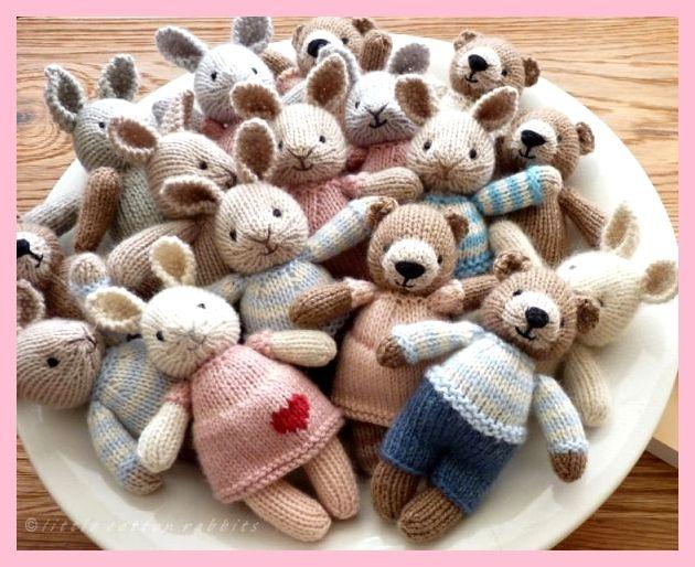 Photo of mini konijntjes en beren, twee nieuwe patronen, #beren #konijntjes #nieuwe #patronen