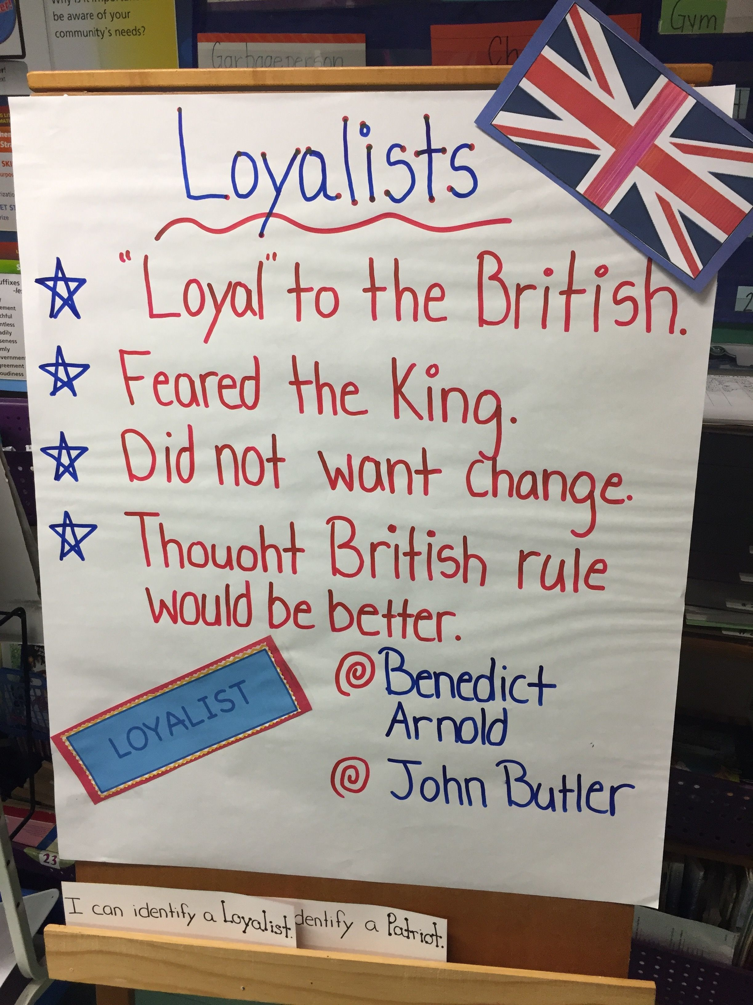 Loyalist Anchor Chart Perfect For An Introduction To The