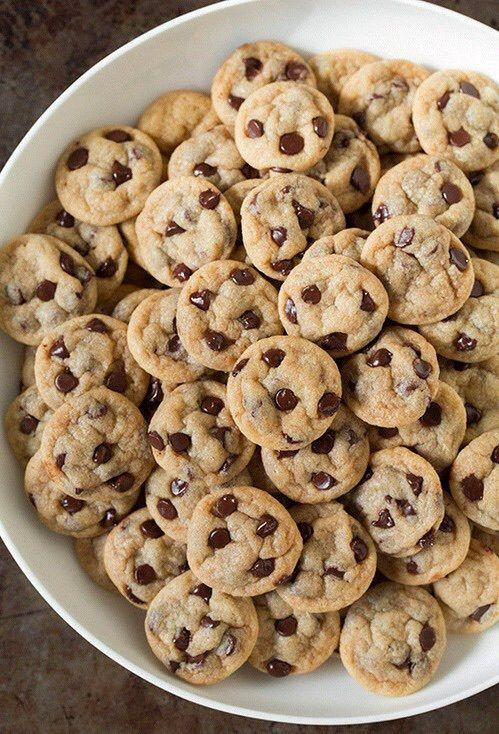 Best Pinterest Pins Mini Chocolate Chip Cookies Food Cravings Love Food