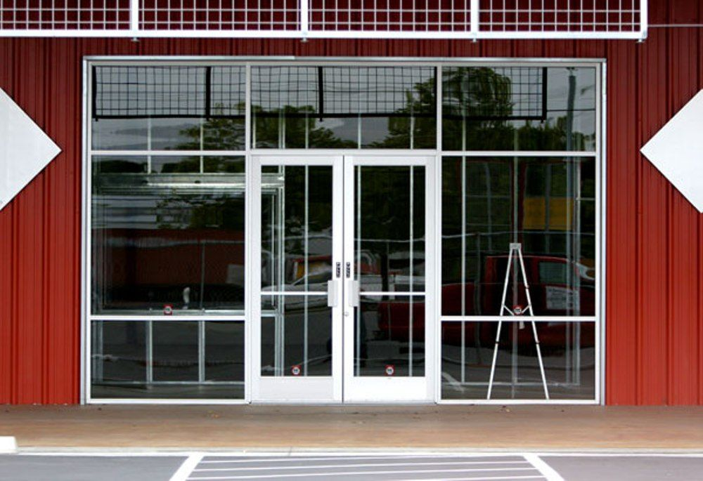 Image result for WHITE STOREFRONT GLASS Storefront doors