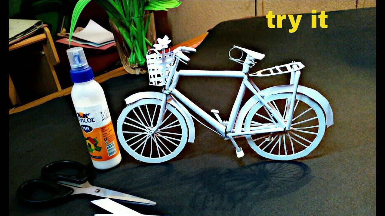 How To Make A Paper Cycle Diy Simple Paper Craft Easy Paper