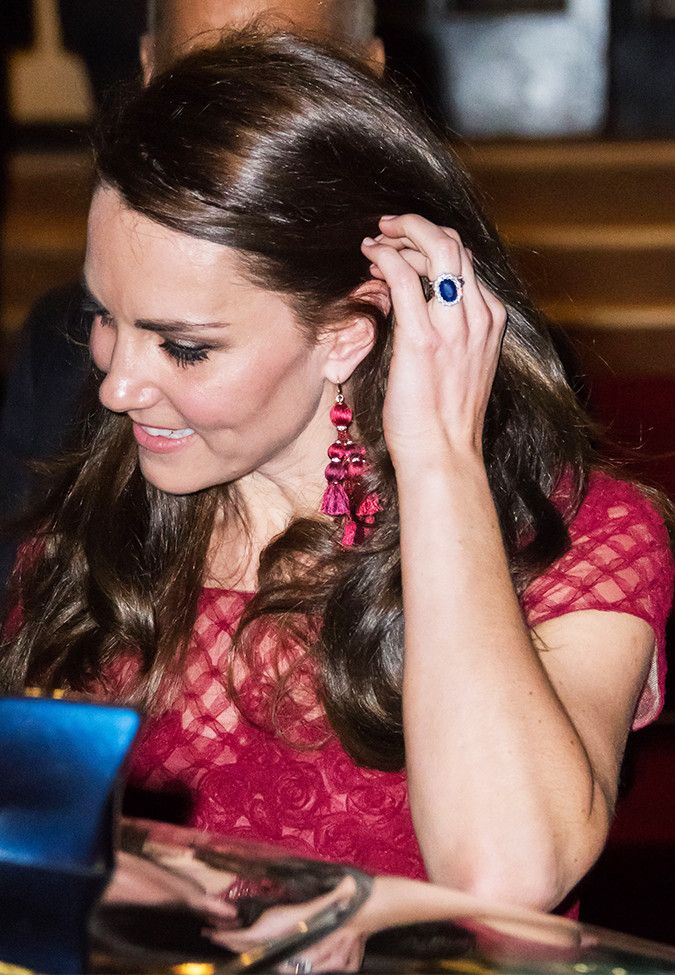 Kate Middleton just wore a pair of fun statement earrings on the red carpet that cost less than $100. See and shop them here.