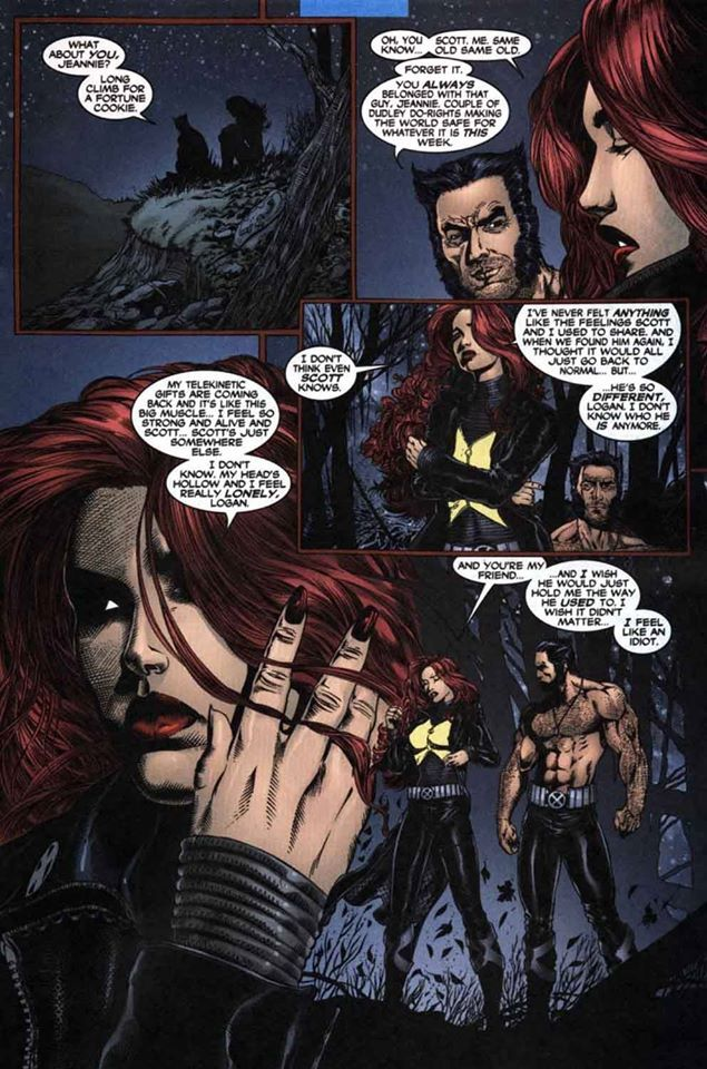 Logan Admitting Jean Scott Are Meant For Each Other Thank You Grant Morrison Wolverine And Jean Grey Comics Wolverine Marvel