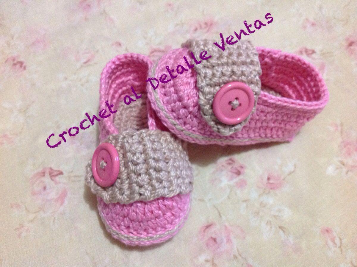 Zapatos crochet rosa