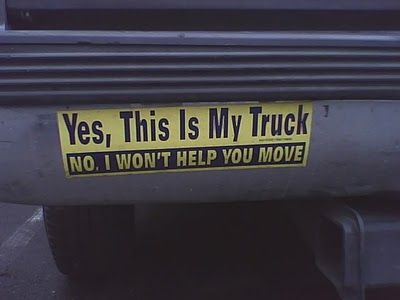 Truck bumper stickers