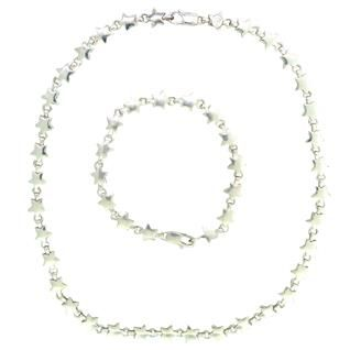 Tiffany & Co. Sterling Silver Stars Necklace Bracelet Set. Available @ hamptonauction.com at the Fine Jewelry Watches Coins and Collectibles Auction on October 20th, 2014! Come preview our catalog!