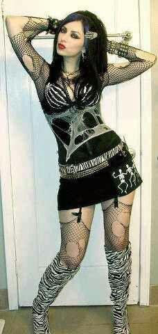 goth Sexy girl punk