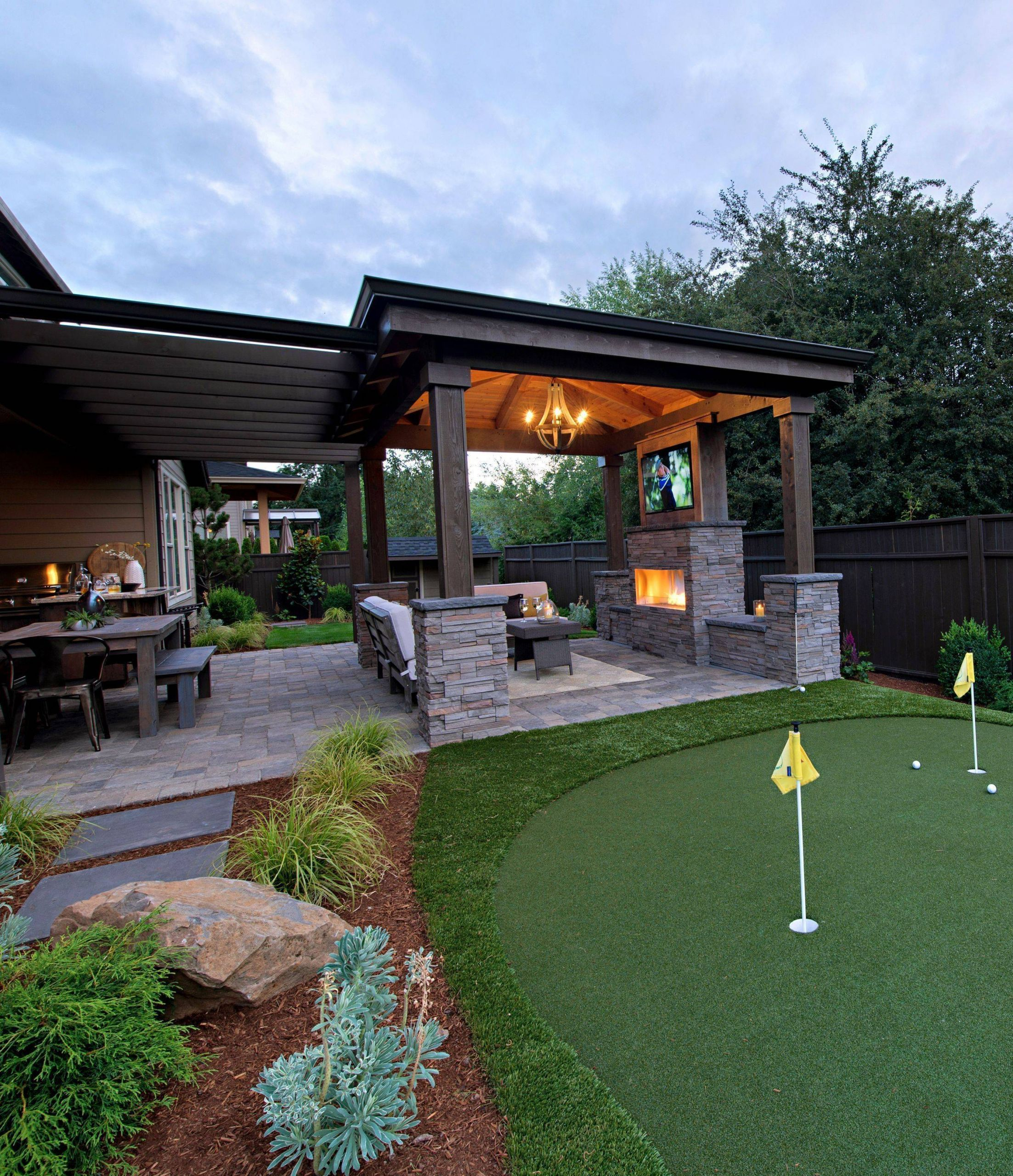 Exceptional Backyard Retreat Ideas Outdoor Covered Patio Backyard Patio Patio Design