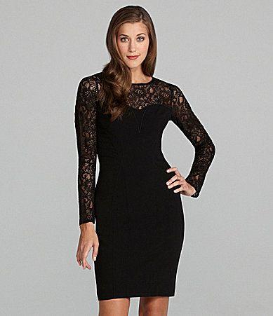Marc New York LongSleeve LaceYoke Dress #Dillards | My Style | Pinterest