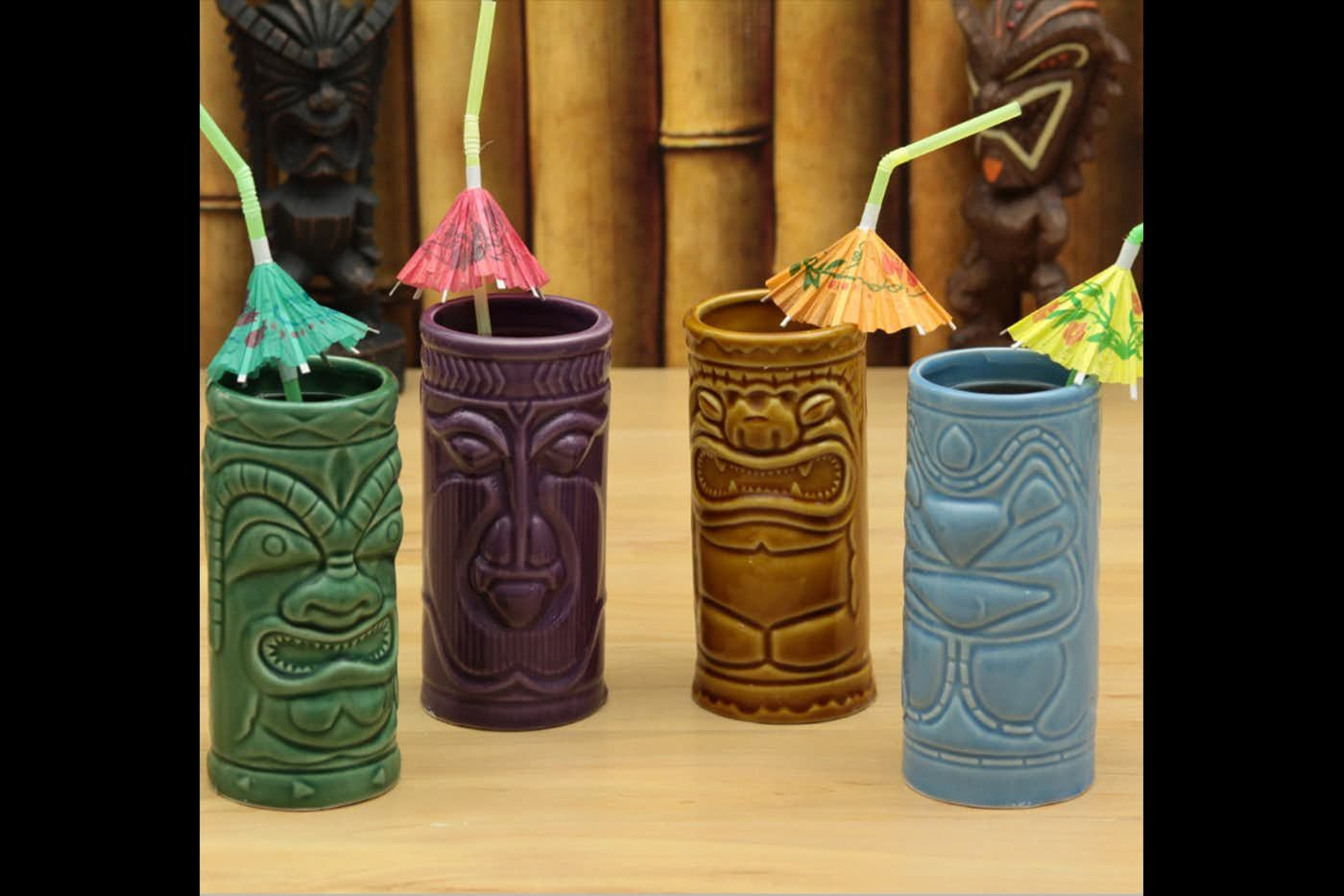 Stackable Tiki Tumblers Set of Four