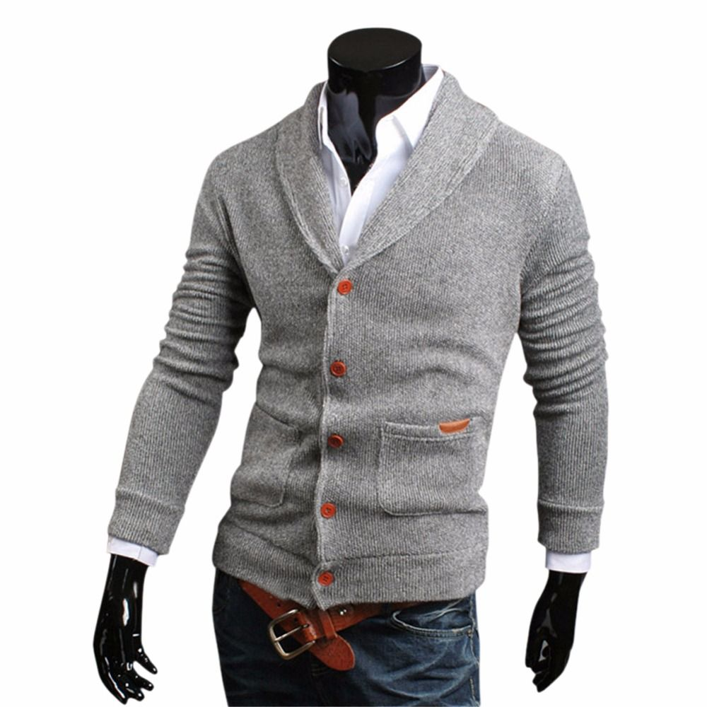 Lisli Slim Fit Shawl Collar Cardigan Sweater Of Contrast Color ...